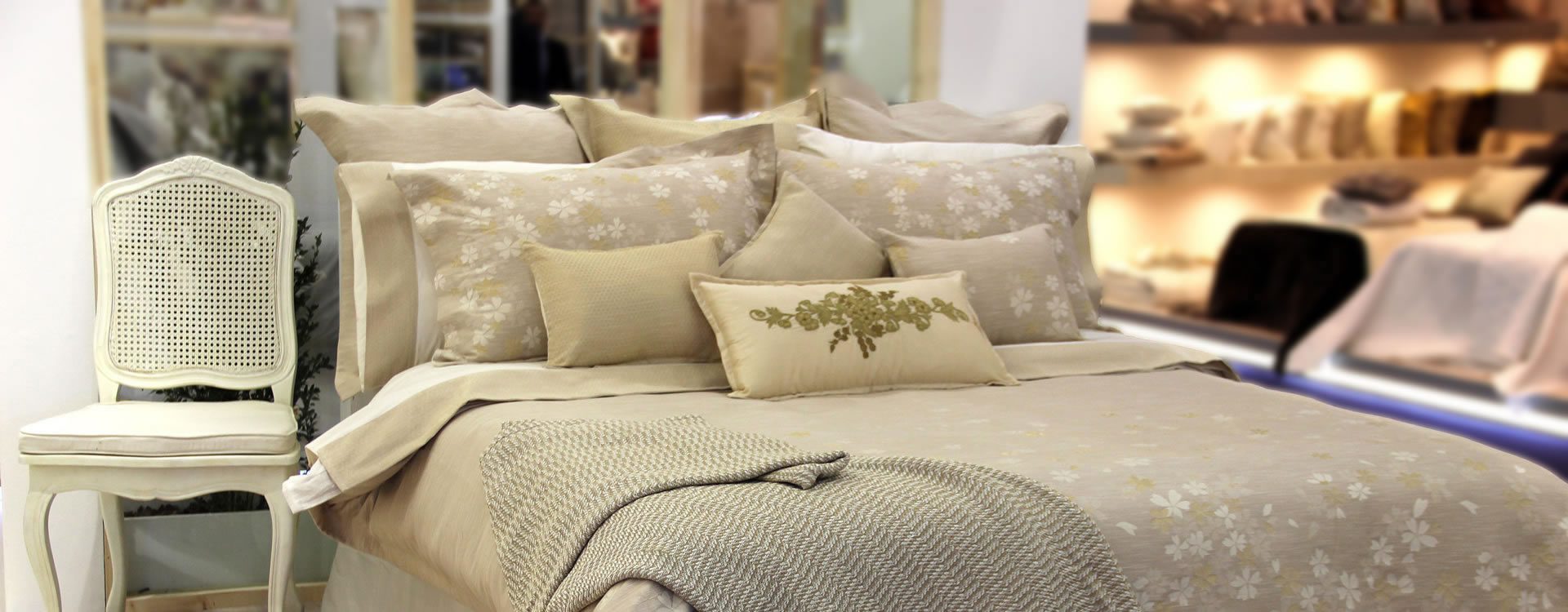 Experience a cotton treat of high-end bedding fashions